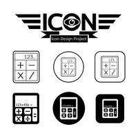 Rechner Symbol Symbol Zeichen vektor
