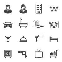 hotell och semester service ikoner vektor