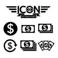 Geld Symbol Symbol Zeichen vektor