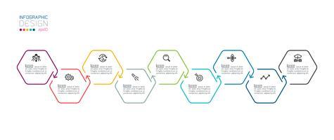 Hexagon Inforgraphics auf Vektorgrafik.