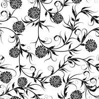 Nahtloser einfarbiger Blumenhintergrund auf Vektorillustration.