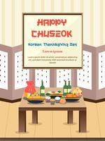 Chuseok banner design bakgrund.