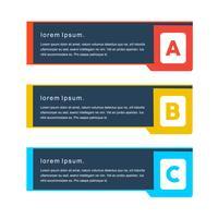 Kreativa minimal koncept vektor png banners