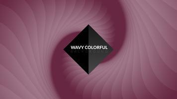 Vågig färgstark bakgrund vektor