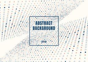 Abstrakt flerfärgade prickar mönster halvtons stil perspektiv på vit bakgrund med fyrkantig ram.