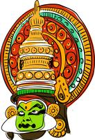 Kathakali Vector Illustration