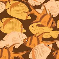 Sömlöst fiskmönster. vektor