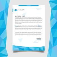 Företagsaffär brevpapper design