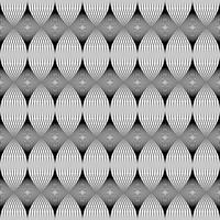 Sömlöst mönster, svart linje. vektor