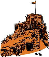 Indische Fort-Vektor-Illustration