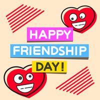 Lycklig Vänskapsdags Handdragen Vektor Lettering Design. Perfekt för reklam, affisch