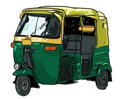 rickshaw vektor illustration