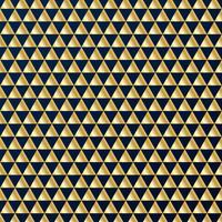 Nahtloses Luxusmuster der geometrischen Golddreiecke auf dunkelblauem Hintergrund. Gold und Blau färben Gestaltungselemente für elegante festliche Projekte und Preise.