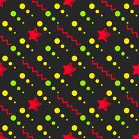 Star Seamless Mönster, Handdragen Sketched Doodle Stars, Vector Illustration