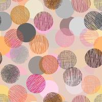 Färgdoodle i cirkelform med sömlös bakgrund. vektor