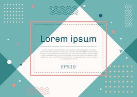 Banner webbmall geometrisk design med fyrkantig ram pastellfärg bakgrund. Du kan använda för kupong, rabatt, säsongsförsäljning etc. vektor