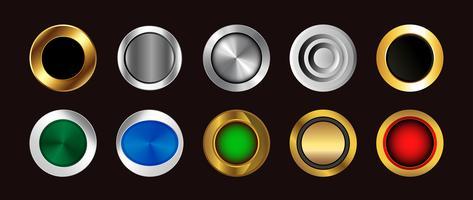 färgglada knappsats. ikoner vektor symboler samling.