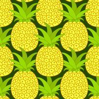 Ananas sömlösa mönster. Tropisk bakgrund. Vektor illustration. Rady för din design, hälsningskort