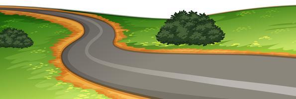 En landsbygdsvägscens
