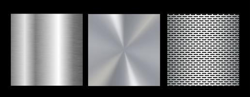 Stor kollektion färgglada gradienter. Metalliska gradienter som består av bakgrunder. Vektor.