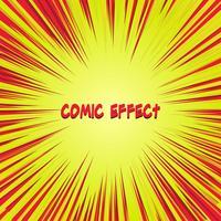 roter und gelber Comic-Zoomeffekt vektor