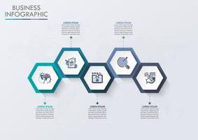 Visualisierung von Geschäftsdaten. Infographik Timeline Icons für abstrakte Hintergrundvorlage