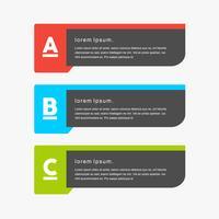 Färgglada minimal kreativa vektor png banners