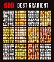stor samling färgstarka metalliska gradienter.