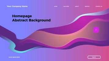 Homepage abstrakten Hintergrund. Zielseitenvorlage mit Farbverlauf