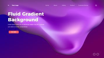 Homepage Flüssigkeit Farbe Mesh Hintergrund. Zielseitenvorlage mit Farbverlauf
