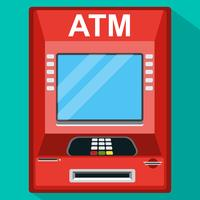 ATM-tellermaskin. Vektorns illustration.