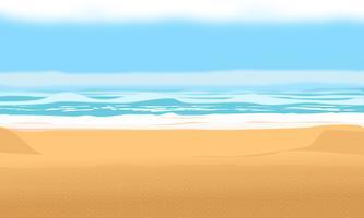 Bakgrund för sommarstrand och semester. vektor design illustration