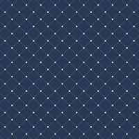 Nahtloses Muster der Quadrate der gestrichelten Linien auf dunkelblauem Hintergrund. Geometrische Form diagonal wiederholbar.