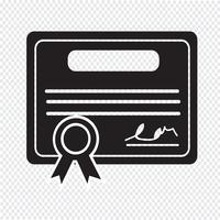 Certifikat Ikon symbol tecken