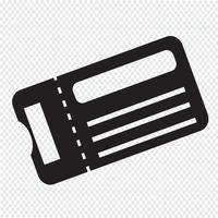 biljett ikon symbol tecken