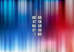 Abstrakt mångfärgad randig färgstark slät blurred blå och röd vertikal bakgrund. vektor