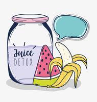 Fruktjuice detox vektor