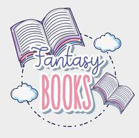 Fantasy- und Zauberbücher vektor