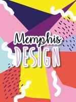 Memphis färgglada bakgrundsdesign