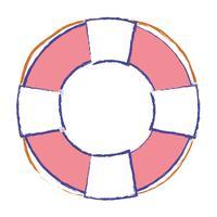 Rettungsring Objekt zur Sicherheit Notfall vektor