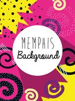 Memphis bunte Hintergrundauslegung vektor