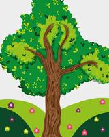 Baum im Wald vektor