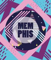 Memphis Vorlage und Hintergrund vektor