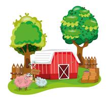 Vacker gårdstecknad