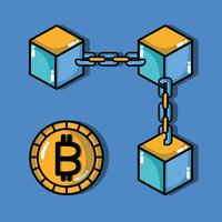 Bitcoin Digital Money Sicherheitstechnologie vektor