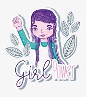 Flicka makttecknader