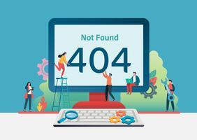 404-Fehlerseite nicht gefunden. Vektor-Illustration Hintergrund. vektor