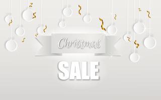 Frohe Weihnachten und ein glückliches Neues Jahr. Weihnachtsverkauf. Feiertagshintergrund. Papiermodelle