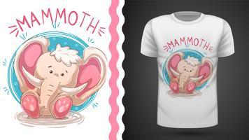 Elefant, mammut - idé för tryckt-shirt