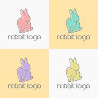 Kaninchen Logo Design Vektor